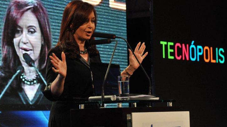 Cristina Kirchner en Tecnópolis.