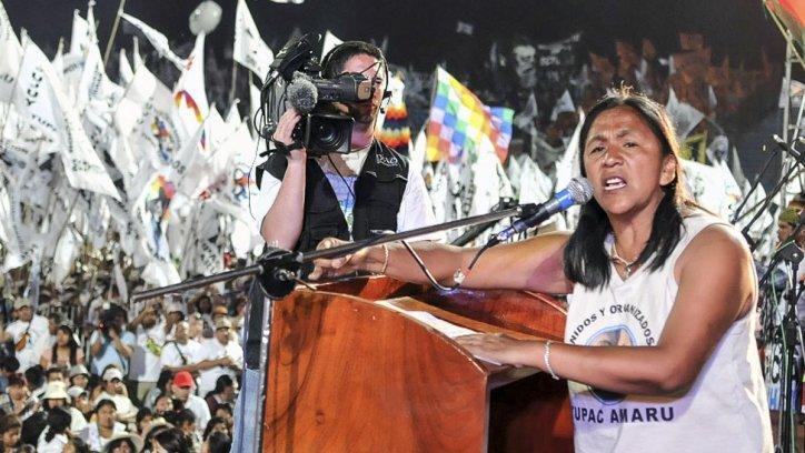 Milagro Sala, líder de la organización social Tupac Amaru en Jujuy.