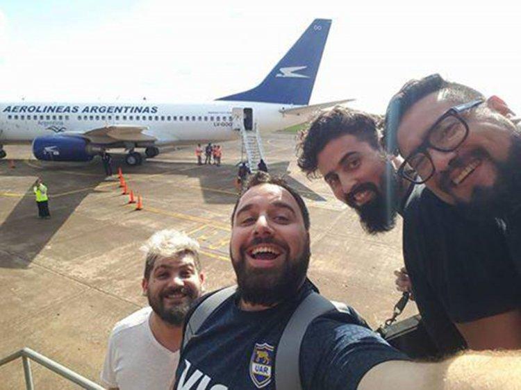 Los Huayra desde el avión.