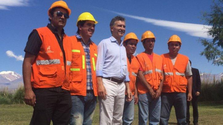 Macri en Calingasta, San Juan desde donde realizó el anuncio sobre retenciones.