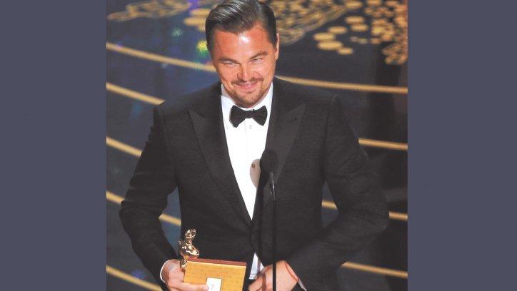 Mejor Actor: Leonardo DiCaprio por El Renacido