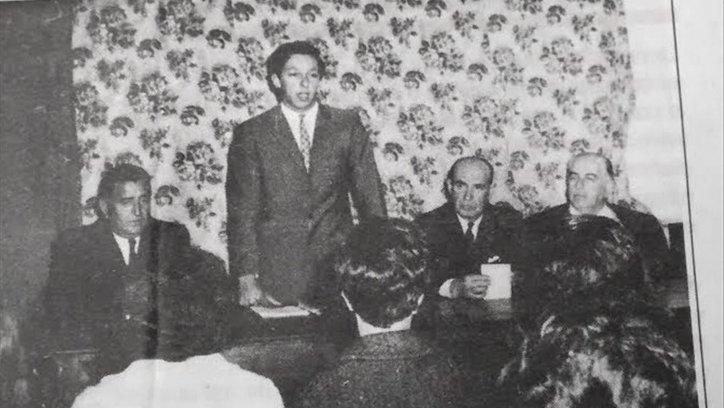 Primera recordación del Pacto de los Cerrillos, en 1967.