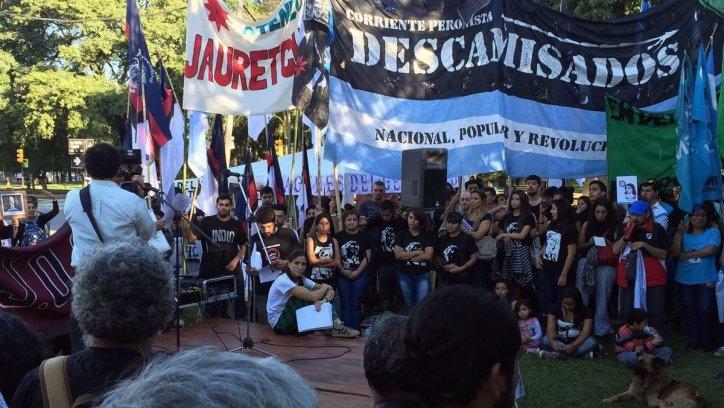 Homenaje a las personas que desaparecieron durante la última dictadura militar, a 40 años del golpe. Federico Medaa