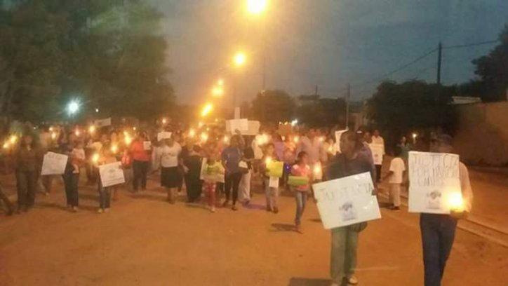 Masiva marcha por justicia en Morillo. Gentileza