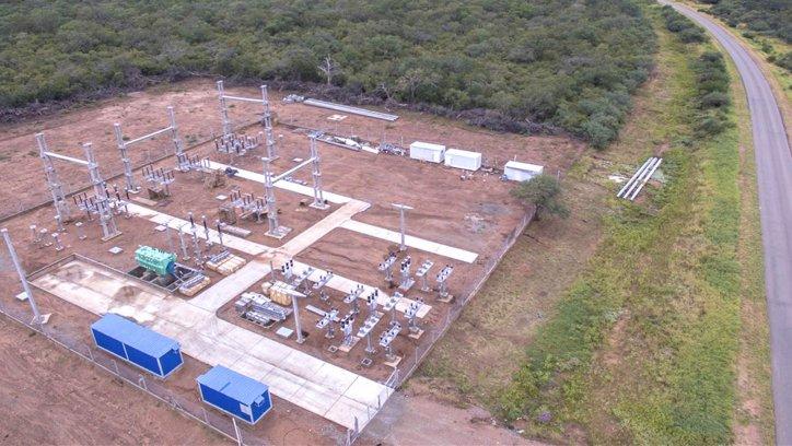 Así se ven las obras de la estación transformadora que se construye en La Estrella, cerca del empalme de las rutas 5 y 13. Fotos: Javier Corbalán