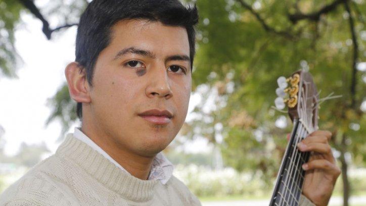 Javier Cuenca, en el predio de El Tribuno. Andrés Mansilla