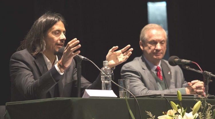 El ministro Parodi y el decano Guijarro.