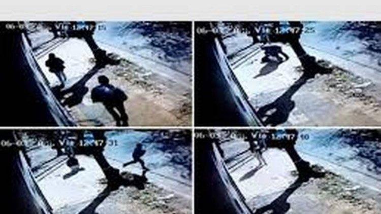 El hombre que quiso robar una bebé quedó registrado en una cámara de seguridad de una casa.