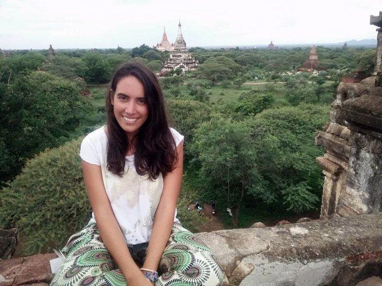 Maira Gutiérrez Vázquez, de viaje en Bagan, Myanmar.
