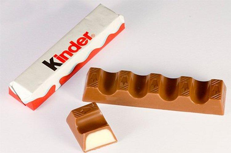 El chocolate Kinder Riegel de la marca italiana Ferrero.