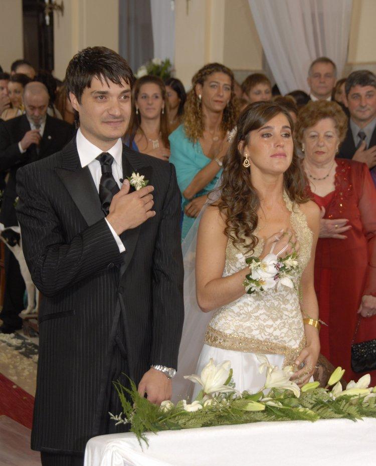 Jeremías y la Sole el día que se casaron.