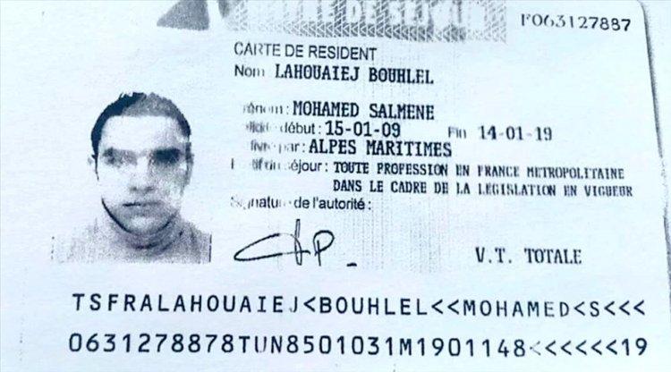 El documento de Mohamed Lahouaiej Bouhlel.