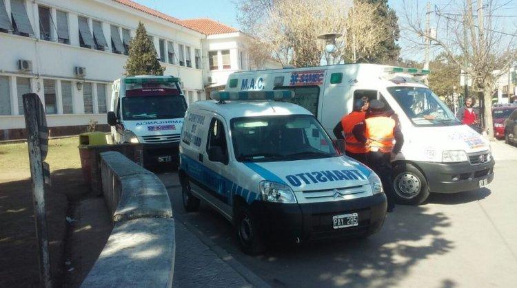 Ambulancias preparadas para el traslado de los órganos. Foto: Municipalidad de Salta