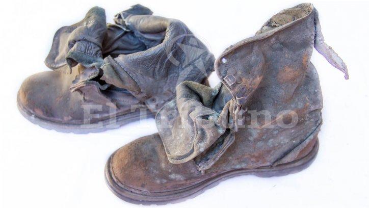 TRAGEDIA DE GUACHIPAS | Los botines quemados y los demás elementos fueron entregados a familiares de Ferreyra en una bolsa de consorcio.