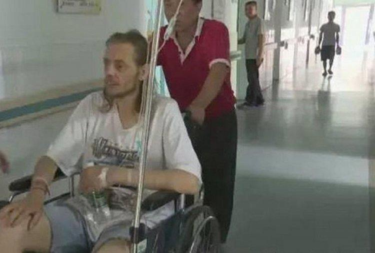 Alexander Pieter Cirk, al momento de ser hospitalizado.