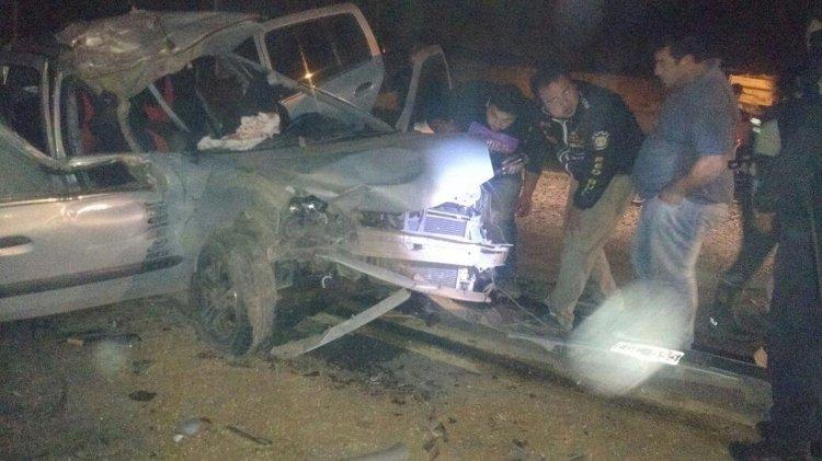 El accidente ocurrió en la Ruta Nacional 34 a la altura de Pichanal, entre el Renault Clío y un camión.