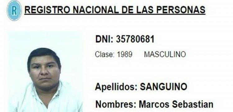 Marcos Sebastián Sanguino, otro de los prófugos.