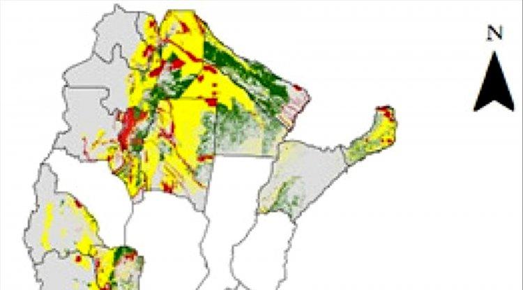 La línea Barilari muestra la diferencia del ordenamiento entre el verde de Formosa y el amarillo de Rivadavia.