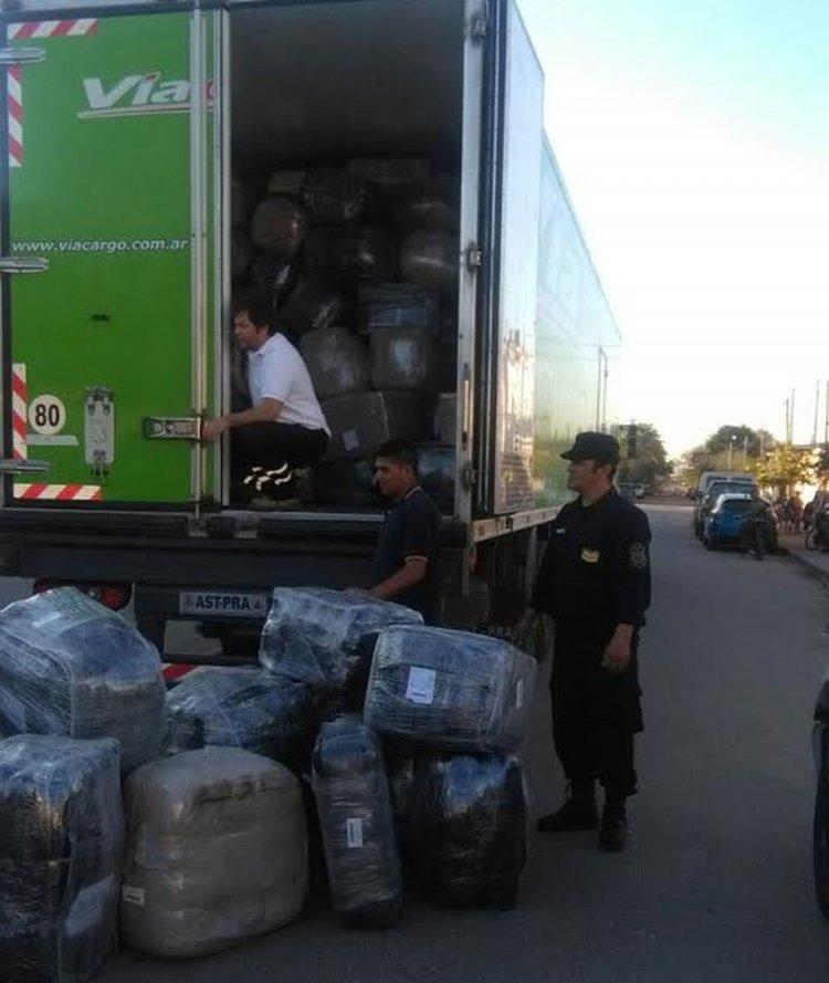 Del operativo se hizo cargo la Policía de Salta y la Dirección de Rentas de la Provincia de Salta sobre la Ruta 5.
