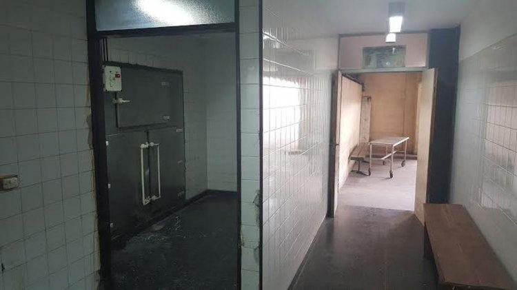 La morgue del hospital de Orán donde fue sometida sexualmente una mujer fallecida.