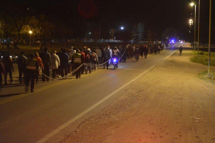 La Policía de la Provincia y la Gendarmería Nacional dispusieron de un gran operativo de seguridad.