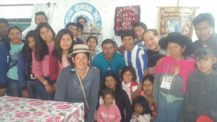Los peregrinos de Santa Victoria Oeste que nos dieron su testimonio.