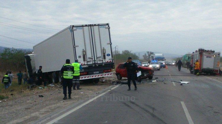 Accidente en la ruta 34, altura Parque Industrial de Güemes