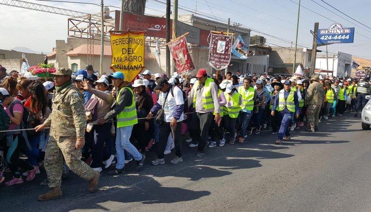 Caminaron cerca de 195 kilómetros para estar presentes en la Peregrinación de mañana.