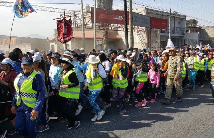 Una multitud feliz de estar en Salta después de 5 días de peregrinación.