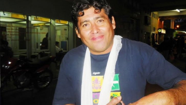Daniel Gramajo, el operario de la empresa de cable de General Güemes.