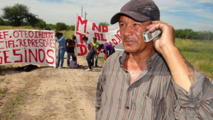 Angel Verón dirigente social de Chaco que murió tras una represión policial. (Foto Diario Norte)
