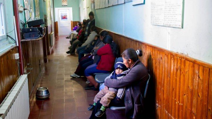 pacientes en el hospital de San Antonio. Javier Corbalán