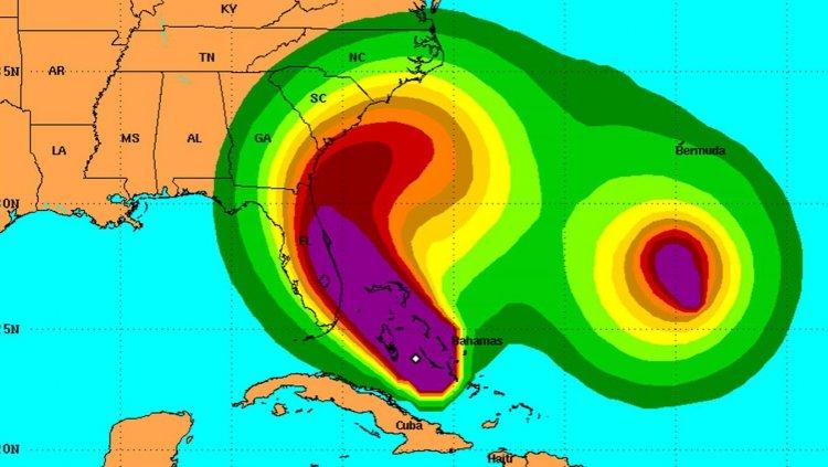 El camino previsto para el huracán Matthew. Foto: NHC