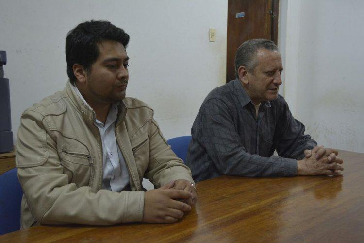 Pablo Arequipa y el intendente de Aguaray, Alfredo Darouiche.