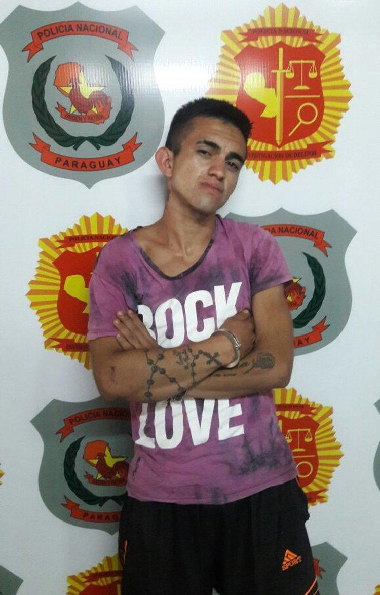 Cristian Romero Gamarra, el joven paraguayo que la llevó a su país y fue detenido por Trata de Personas.