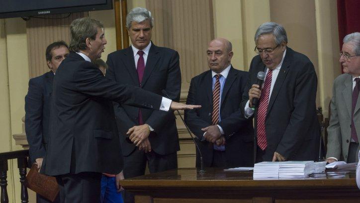 Jura de Salvador Rodríguez ayer en la Cámara Baja. Foto: Juan Barthe.