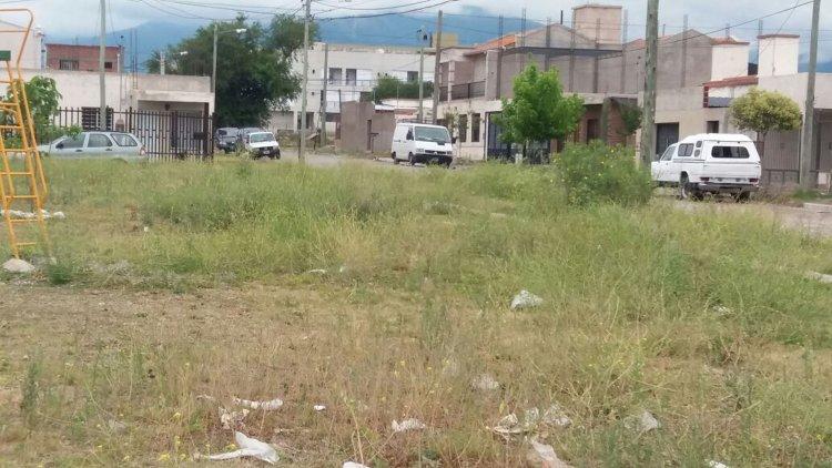 Así se encuentra hoy un sector de la plaza de Barrio Mirasoles, con los pastos altos que significan un peligro para los chicos que juegan en el lugar.