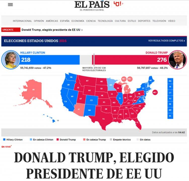 El diario El País de España tituló: