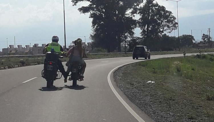 Al policía de tránsito no le importó infligir la ley, la que él mismo debe hacer cumplir.