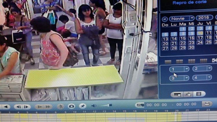 Esta joven cometió un robo en un negocio en pleno centro de la ciudad, en la Galería Continental.