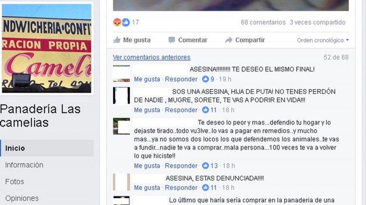 La panadería tiene su cuenta de Facebook. Hasta esa página llegaron los proteccionistas de animales para escrachar a la dueña del perro.