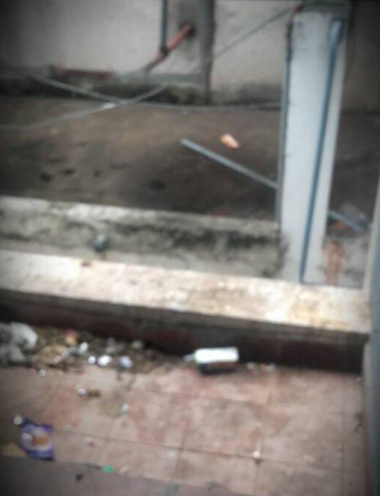 La mugre en el Hospital Perón.